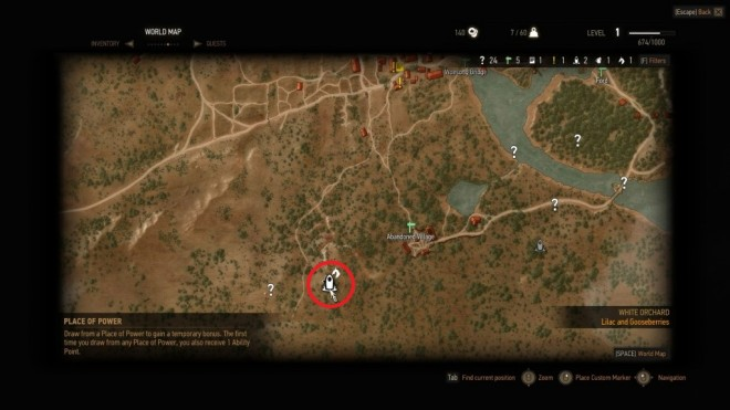 TW3 Abandoned Village Place of Power Map