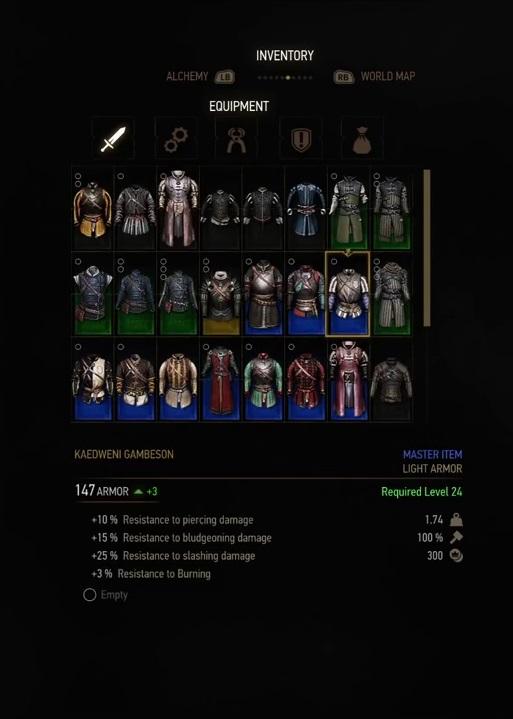 witcher 3 armor kaedweni gambeson