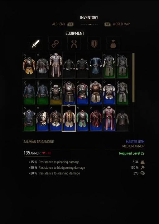 witcher 3 armor salmian brigandine