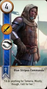 witcher 3 cards blue stripes commando