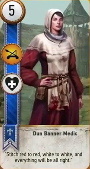witcher 3 cards dun banner medic