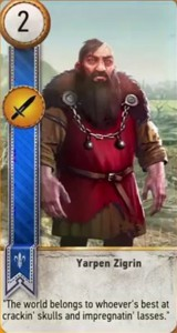 witcher 3 cards yarpen zigrin
