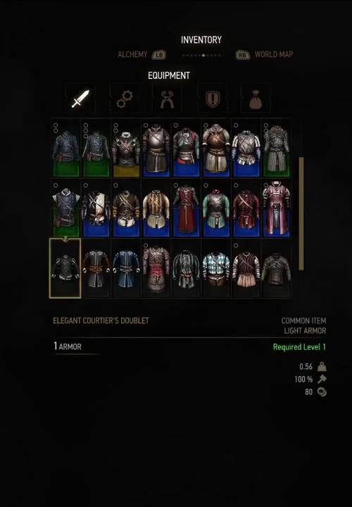 witcher 3 armor elegant courtiers doublet