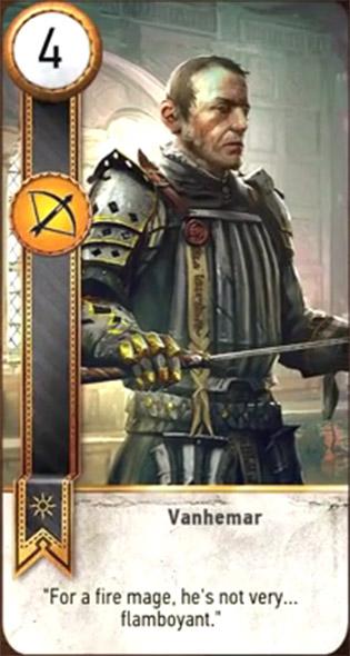 witcher 3 cards vanhemar