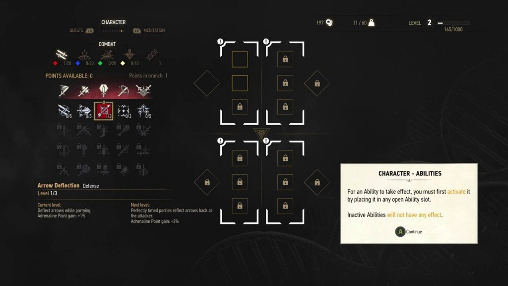 witcher 3 skills abilities